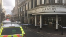 Norwich's historic department store evacuated after fire
