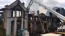 Owner says he is 'distraught' after fire destroys Edwardian mansion