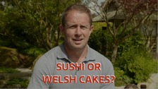 Sushi or Welsh cakes? Rugby star Shane Williams reveals all