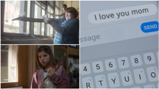 In a chilling scene, one girl texts her mum 'I love you'.