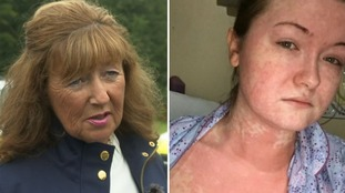 Debbie Roscoe (left) feared for her daughter Ellie's life after she contracted measles.