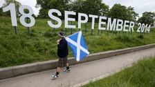 A 'Yes' supporter ahead of 2014's Independence Referendum