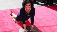 Dame Shirley Bassey unveils handprints at Wembley