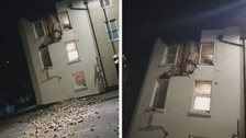 Three arrested after building partially collapses in Ramsgate