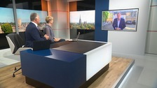 Piers Morgan chats to ITV News Anglia's Jonathan Wills and Becky Jago.