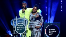 Rapper Dave hugs mum while accepting Mercury Prize