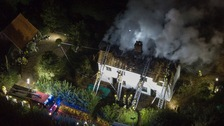 Fire crews tackle thatched cottage blaze in Suffolk overnight