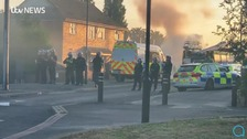 These were the scenes in Halton Moor