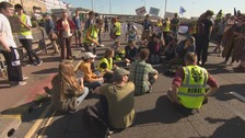 Climate activists hold protest near to the Port of Dover