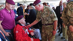 War veteran, 97, meets Charles after parachute jump to mark Arnhem operation