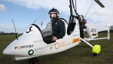 Hampshire adventurer set to complete gyrocopter global challenge