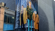 Famous faces transform Liverpool city centre with bursts of colour