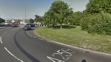 Man held on suspicion of murder after two police officers hit by car
