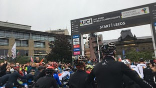 The Elite Men's Road Race on the final day of the UCI Road World Championships has been re-routed due to heavy rain.