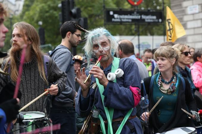 Protests were also held outside Government departments, calling on them to outline what their plans are to tackle the climate emergency, along with processions, marches and a sit-in at City Airport