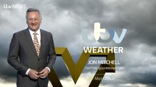 Calendar weather: Briefly drier overnight, then wet and windy Monday.
