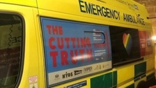 Dangers of carrying knives to be shown on ambulances
