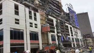 A large portion of the Hard Rock Hotel collapsed.
