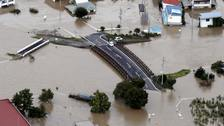 Hunt for missing in flooded Japan as typhoon death toll rises