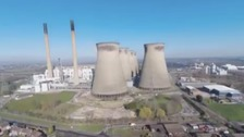 The Yorkshire skyline changes forever - watch the Ferrybridge explosion