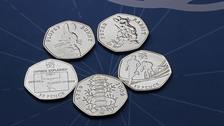 Rarest 50p designs revealed to mark coin's 50th anniversary