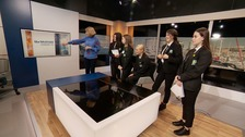 Students visit ITV Channel TV on Open Newsroom Day
