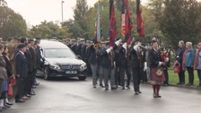 Hundreds turn out for funeral of D-Day hero