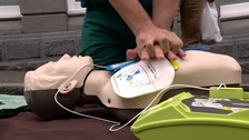 Learn how to do CPR in Restart a Heart Day