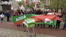 Asda workers stage protest in Leeds over new contracts