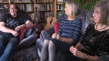 Transgender teacher tells ITV News about her life now with her wife and children