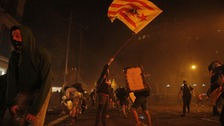 Violent clashes in Barcelona for fifth straight night