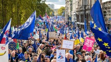 Hundreds travel from Wales for second referendum protest march