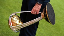 Cricket World Cup Trophy on display in Cockermouth