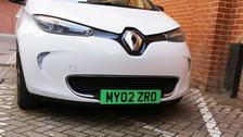Zero-emission cars could be given green number plates