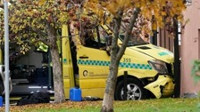 Baby twins among injured in stolen ambulance crash in Oslo