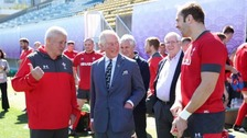 Wales will 'make us all proud' says Charles after team visit
