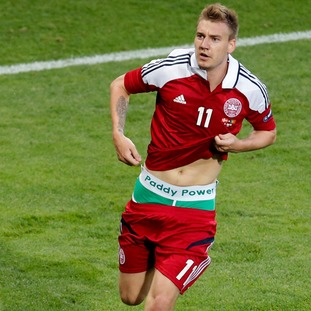 However in comparison, Danish football Nicklas Bendtner was reportedly given an €80,000 fine and given a one match ban for revealing a pair of branded Paddy Power boxers during a Euro 2012 game.