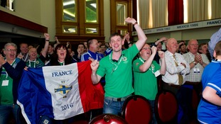 Northern Ireland fans at the Euro 2016 squad announcement