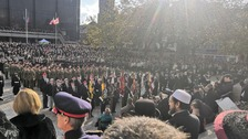 Thousands commemorate Remembrance Sunday