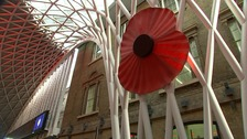 King's Cross falls silent to honour those who died in war