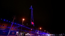 Blackpool Tower turns purple as part of disability campaign