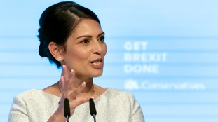 Home Secretary Priti Patel confirmed the Tories will end free movement of people from the EU on January 1 2021 if they get their Brexit deal through