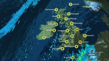 UK weather: A drier day but rain still around
