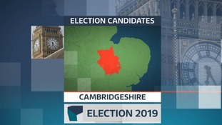 There are five more candidates standing in Cambridgeshire at the 2019 election compared with 2017.