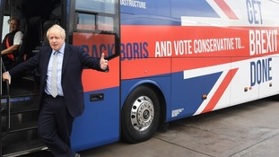 Boris Johnson's new battlebus for the general election campaign was unveiled on Friday