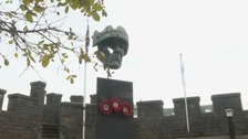 Sculpture donated to Cardiff Castle in honour of soldiers