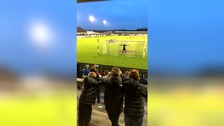 Nuneaton goalkeeper breaks stadium lights as he smashes penalty into the stands