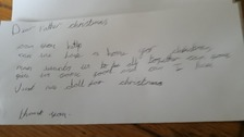 7 year old asks Santa for a 'house, food and a doll'