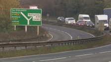 Pedestrian dies after being hit by lorry on A34