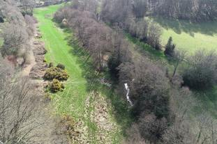 An aerial view of the area at Valewood where the beavers will be